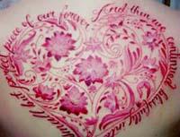 复杂的樱花纹身图案