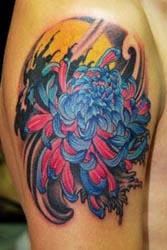 古代人最喜爱的菊花纹身