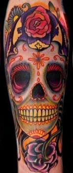 很喜感的骷髅纹身