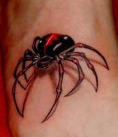 危险的狩猎者 蜘蛛纹身图案