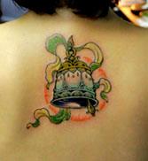 小巧可爱的铃铛纹身图案